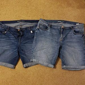 Old Navy bermuda shorts (2 pairs)